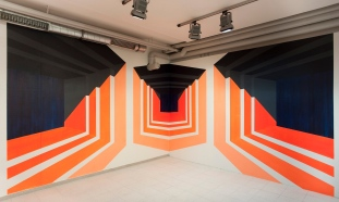 Wandmalerei Suggestion 2011 Zumikon lounge, Nürnberg ca. 2,6m x 8m Acryl/Wand