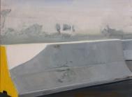 Barriere Bagdad 2006 Öl/Nessel 30cm x 40cm