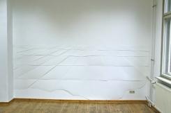 Raster zentriert, 2014, Papier ca. 150cm x 340cm