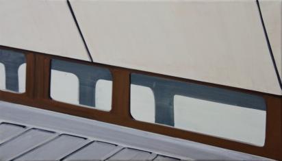 Tegelfenster 2012 Acryl/Nessel 40cm x70cm