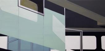 Tegel interieur 2012 Acryl/Nessel 100cm x 200cm