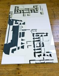 Overview, 2013, Öl/Papier ca.70cm x 146cm