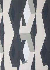 Modul 2014 Acryl/Nessel 70cm x 70cm