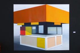 Kiosk 2014 Öl/Acryl/Nessel 200cm x 240cm (2 teilig) - Arbeitskopie 2