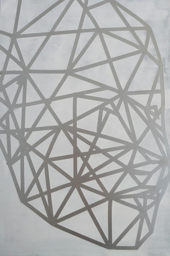 Gesichtserkennung 2014 Lack/Alu 35cm x 25