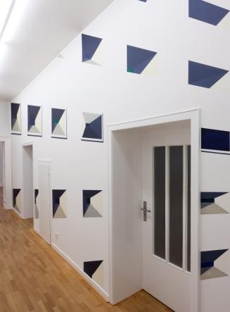 """Subjektive Gewissheit"", kunstgaleriebonn, Bonn (Acryl | Wand, 3,4 m x 8 m)"