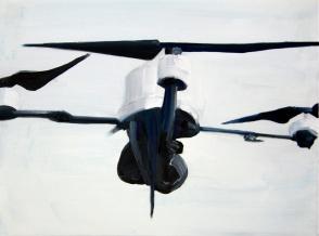 Heli Drohne 2013 Öl:Nessel 30cm x 40cm