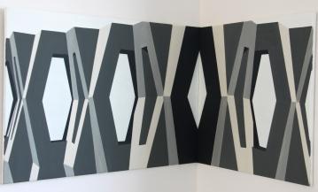Abgeschirmt 2014 Acryl/Nessel 70cm x 100cm,70cm x 70cm