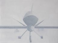Symmetrie Drohne 2013 Öl:Nessel 30cm x 40cm