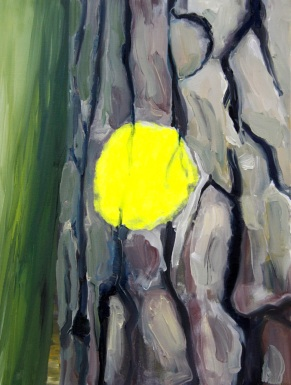 Markierung gelb 2013 Öl:Nessel 40cm x 30cm