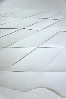 Detail Raster zentriert, 2014, Papier ca. 150cm x 340cm
