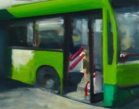 Taksim/Bus 2013 Öl/ Nessel 30cm x 40cm