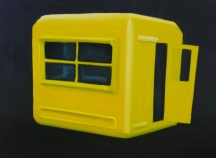 Box(gelb) 2013 Öl/ Nessel 30cm x 40cm