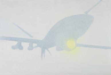 Drohne 2014 Öl/Nessel 30cm x 40cm