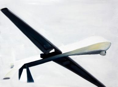 Predator unten 2013 Öl:Nessel 30cmx 40cm