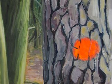 Wald 2013 Öl:Nessel 30cm x 40cm