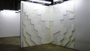 Wand/Schaden 2015 Acryl/Styropor 2,5m x 3,8m