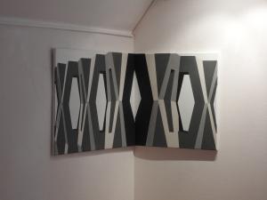 Ecke Formstein 2013/2016 Acryl/Nessel 70cm x 100cm /70cm x70cm