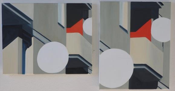 Parobol 1/2 2016 Öl/Nessel 50cm x 40cm