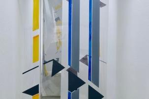 Rasterfassade(3-teilig)Acryl/PVC- Folie/Transparentpapier 2018